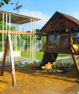 playground kayu PLAYFORT 9 The Spring Kenten City Palembang