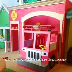 Fire station playhouse with truck