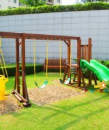 2 playground kayu simple playset